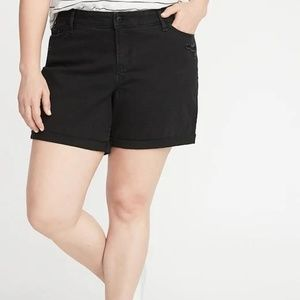 Mid-Rise Distressed Plus-Size Boyfriend Jean Short